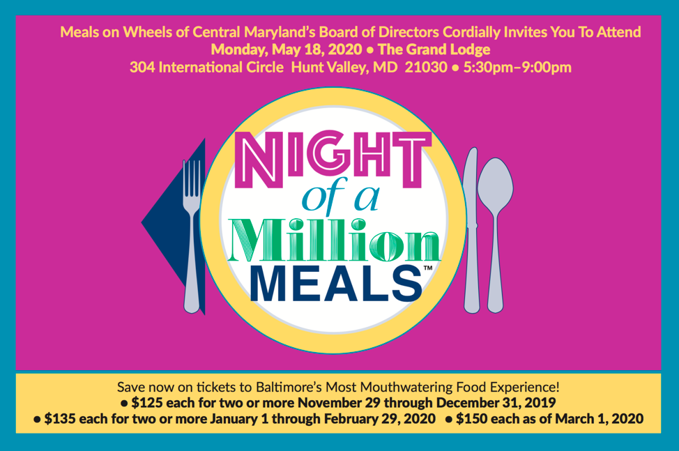 Night of a Million Meals Ticket Postcard